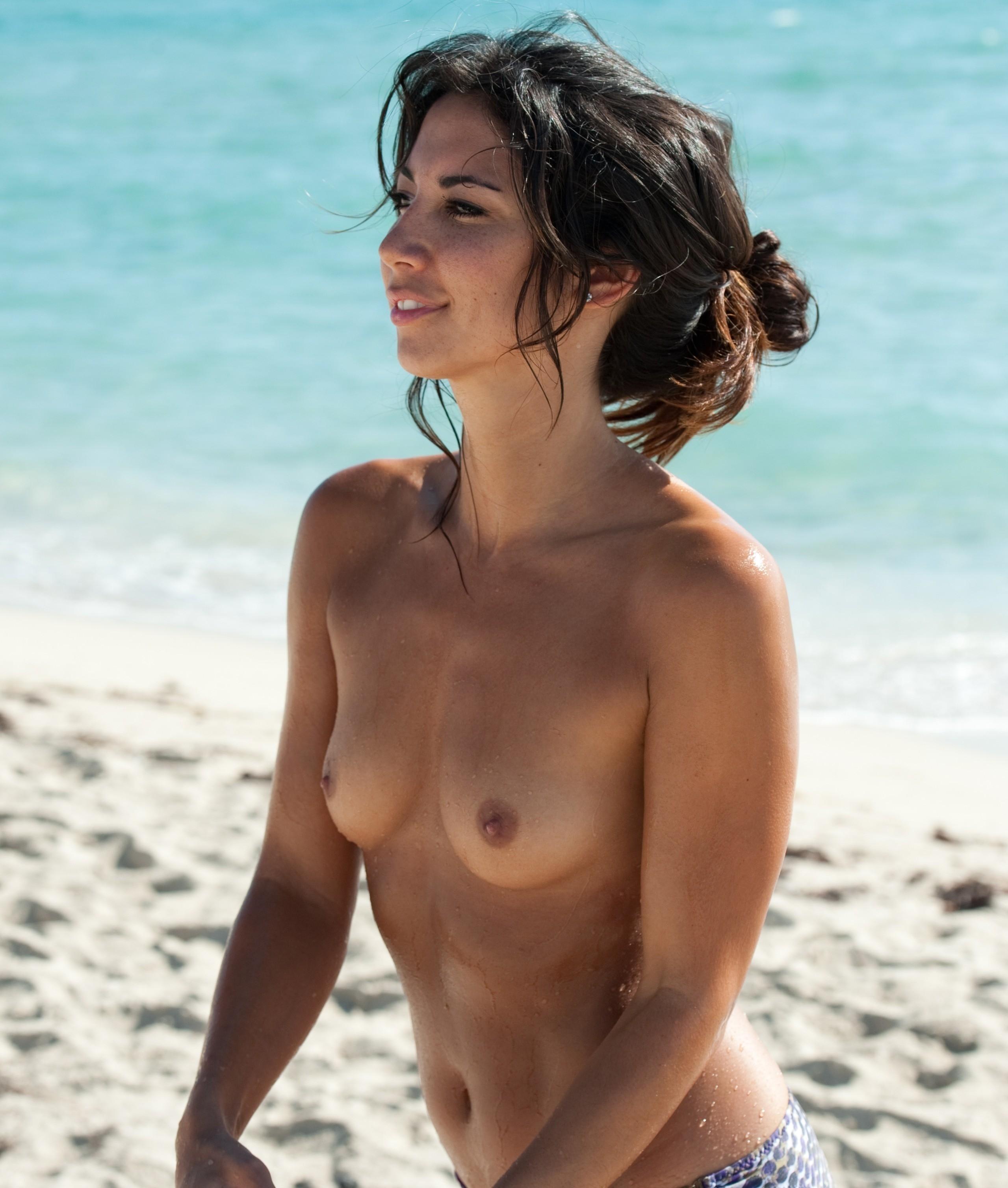 Topless Beach Model